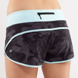 🦄 RARE Lululemon Lalo Soot Aqua Camo Speed Short